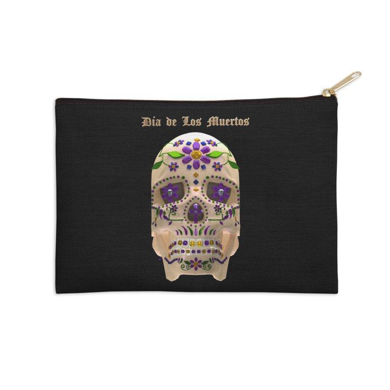 Dia De Los Muertos Sugar Skull One Accessories Zip Pouch by Armando Padilla Artist Shop