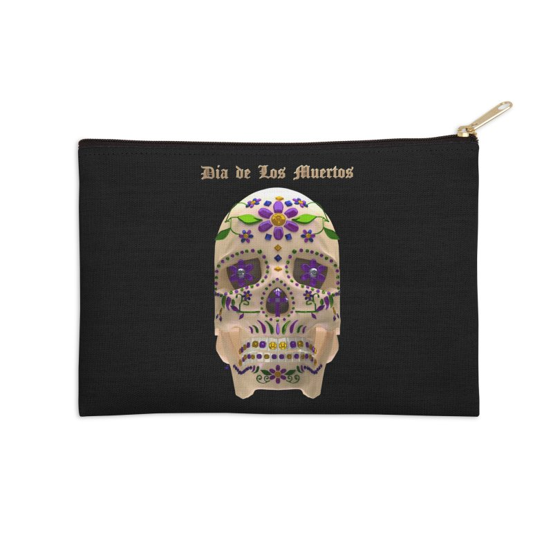 Dia De Los Muertos Sugar Skull One Accessories Zip Pouch by Armando Padilla Artist Shop
