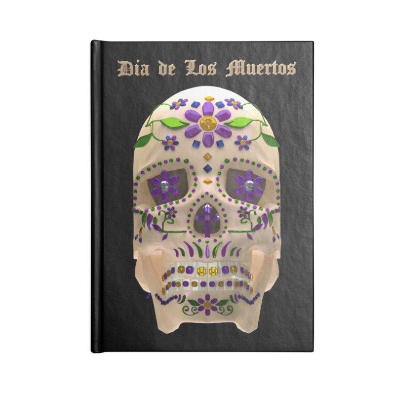 Dia De Los Muertos Sugar Skull One Accessories Lined Journal Notebook by Armando Padilla Artist Shop