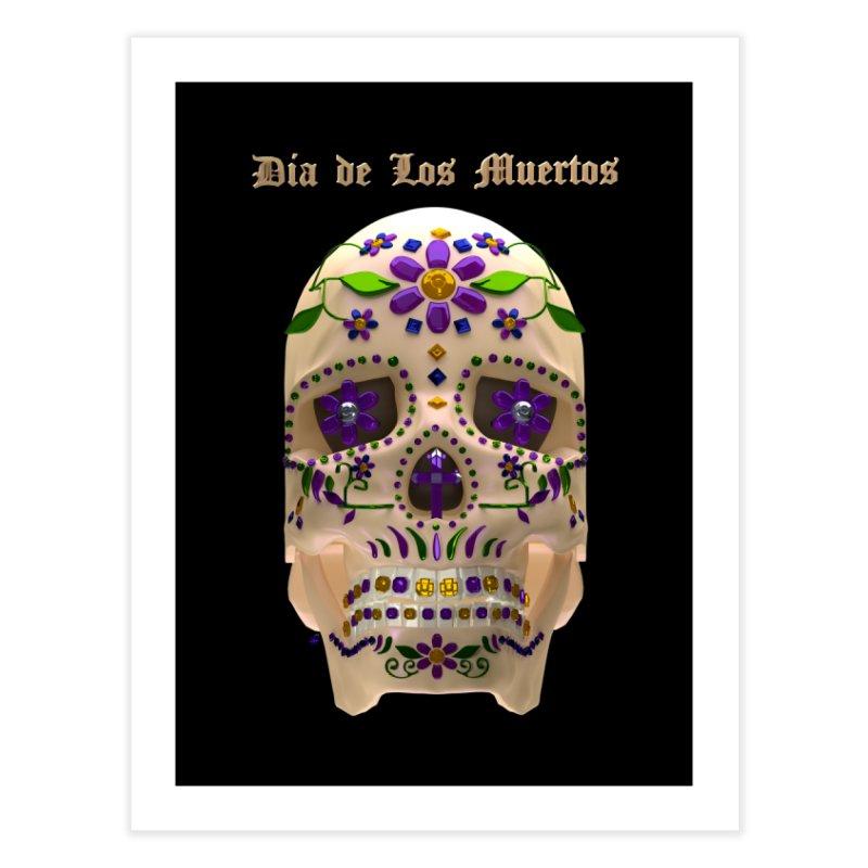 Dia De Los Muertos Sugar Skull One Home Fine Art Print by Armando Padilla Artist Shop