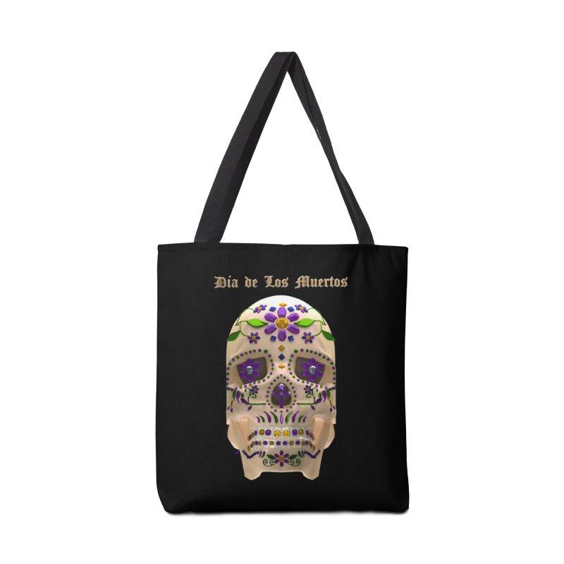 Dia De Los Muertos Sugar Skull One Accessories Tote Bag Bag by Armando Padilla Artist Shop