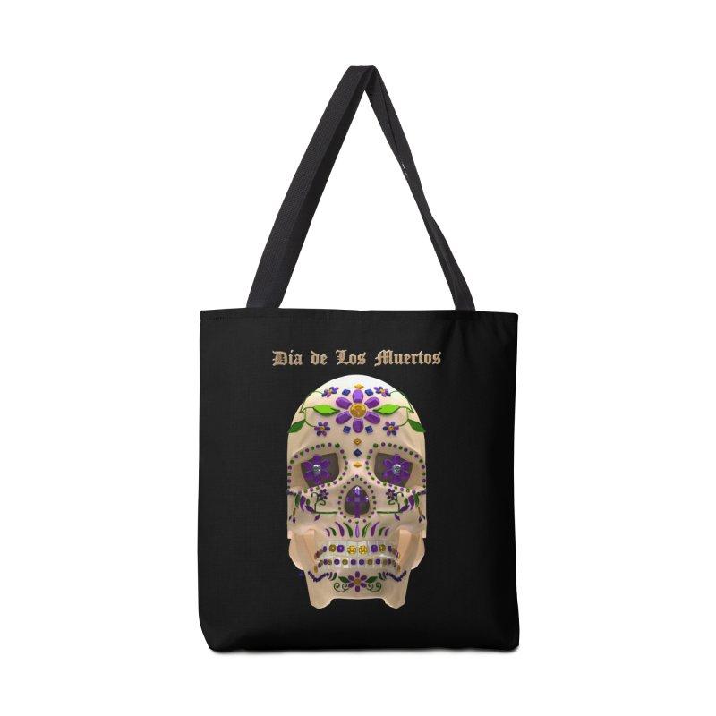 Dia De Los Muertos Sugar Skull One Accessories Bag by Armando Padilla Artist Shop