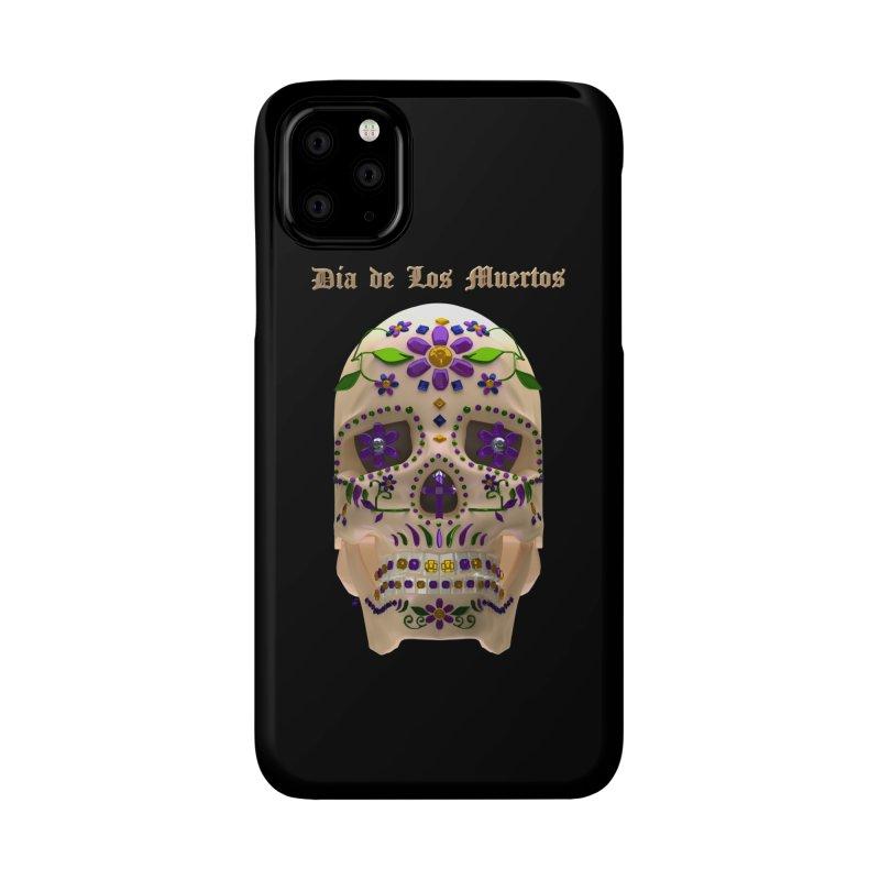 Dia De Los Muertos Sugar Skull One Accessories Phone Case by Armando Padilla Artist Shop