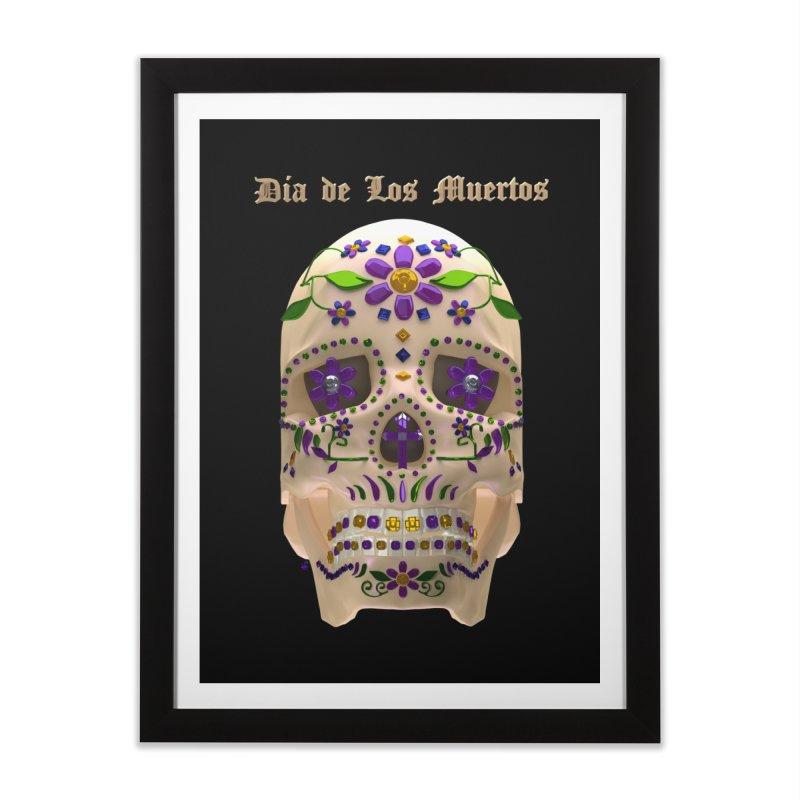 Dia De Los Muertos Sugar Skull One Home Framed Fine Art Print by Armando Padilla Artist Shop