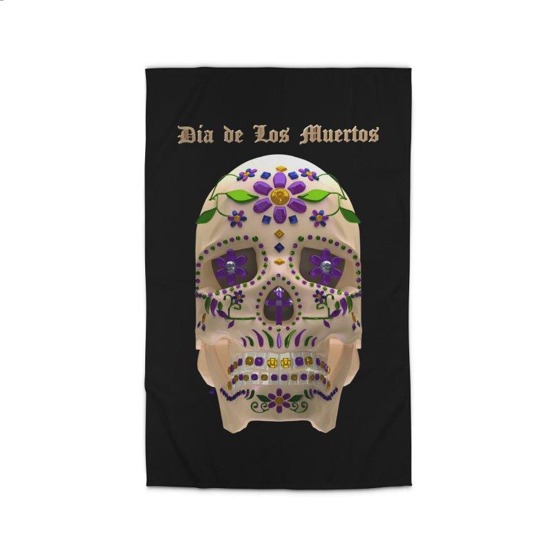 Dia De Los Muertos Sugar Skull One Home Rug by Armando Padilla Artist Shop