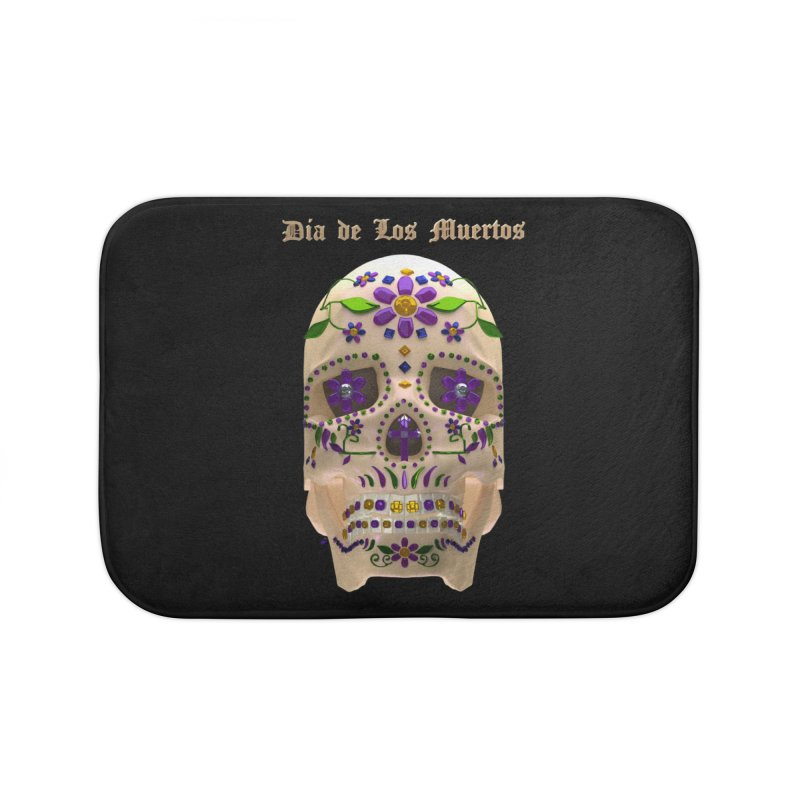 Dia De Los Muertos Sugar Skull One Home Bath Mat by Armando Padilla Artist Shop