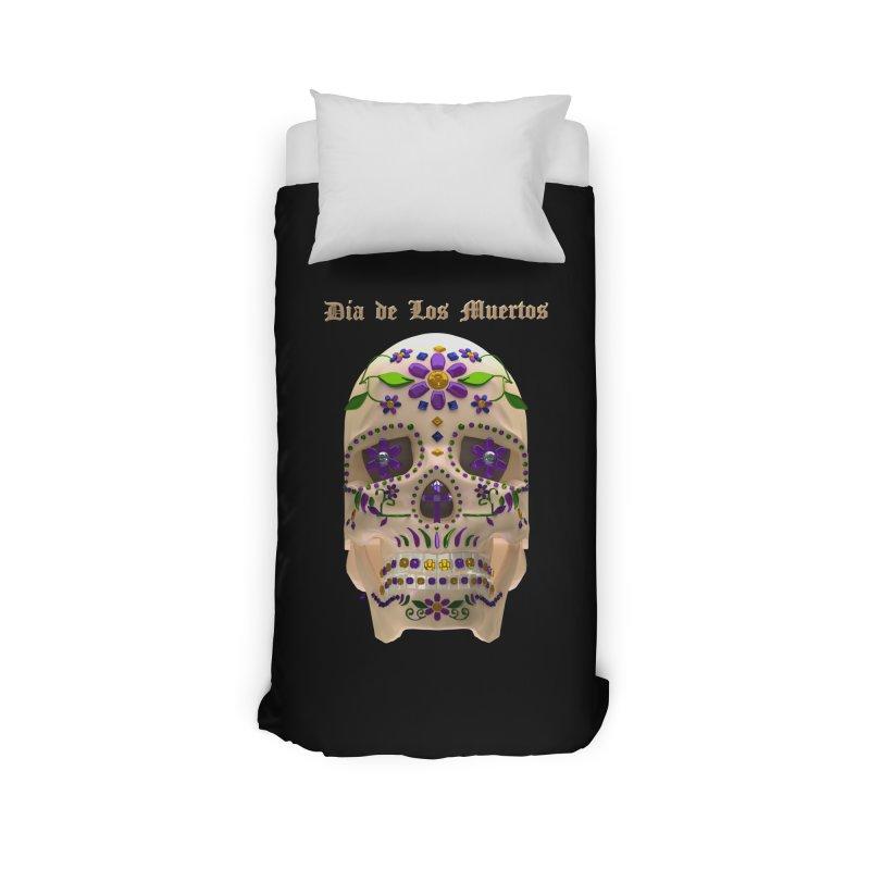 Dia De Los Muertos Sugar Skull One Home Duvet by Armando Padilla Artist Shop