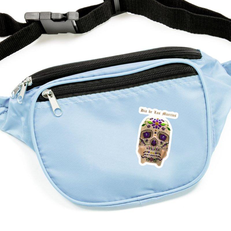 Dia De Los Muertos Sugar Skull One Accessories Sticker by Armando Padilla Artist Shop