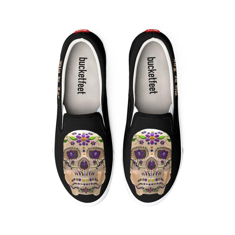 Dia De Los Muertos Sugar Skull One Men's Shoes by Armando Padilla Artist Shop