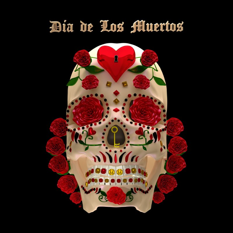Dia De Los Muertos Key To Your Heart Accessories Sticker by Armando Padilla Artist Shop