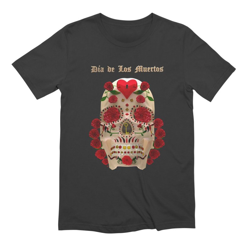 Dia De Los Muertos Key To Your Heart Men's T-Shirt by Armando Padilla Artist Shop