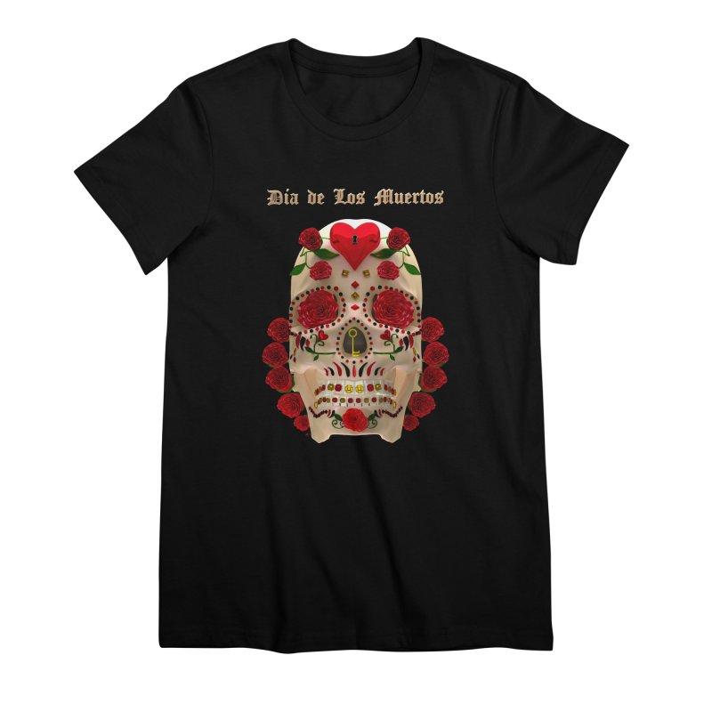 Dia De Los Muertos Key To Your Heart Women's Premium T-Shirt by Armando Padilla Artist Shop