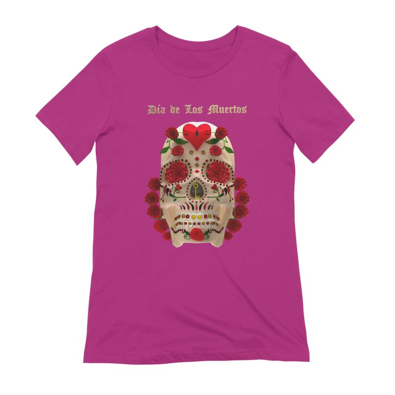 Dia De Los Muertos Key To Your Heart Women's Extra Soft T-Shirt by Armando Padilla Artist Shop