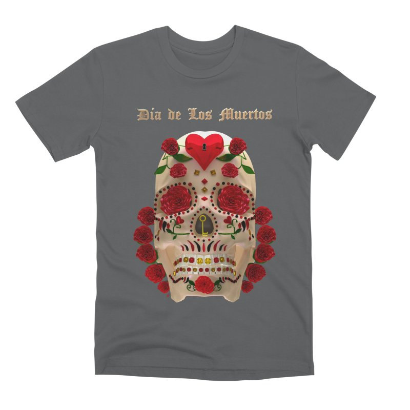 Dia De Los Muertos Key To Your Heart Men's Premium T-Shirt by Armando Padilla Artist Shop