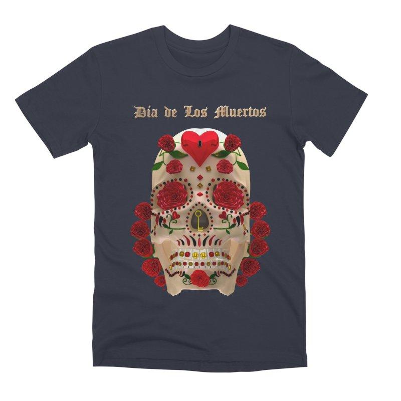 Dia De Los Muertos Key To Your Heart Men's Premium T-Shirt by Armando Padilla Artist Shop