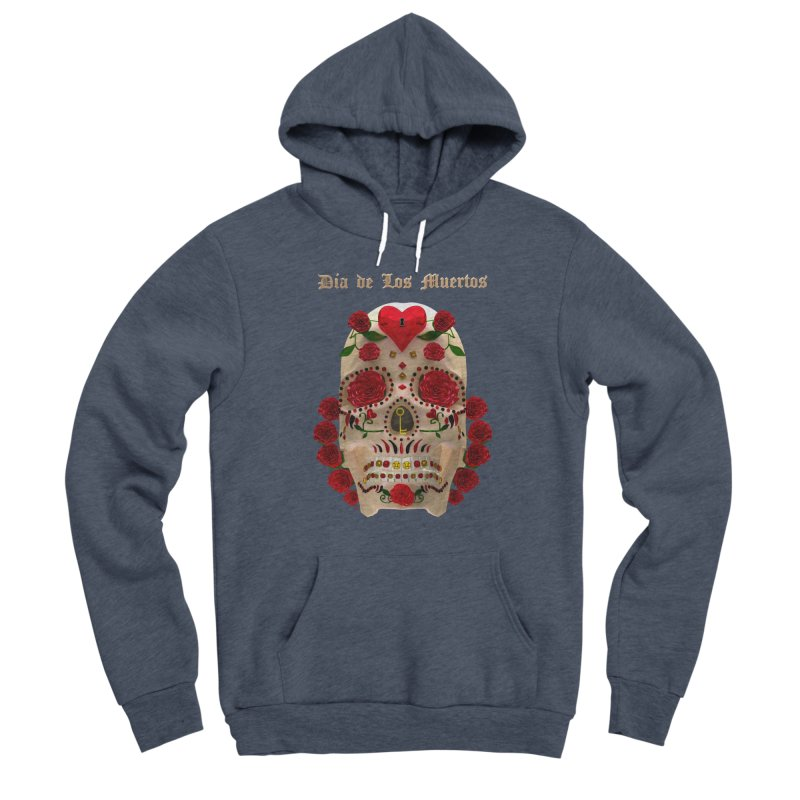Dia De Los Muertos Key To Your Heart Men's Sponge Fleece Pullover Hoody by Armando Padilla Artist Shop