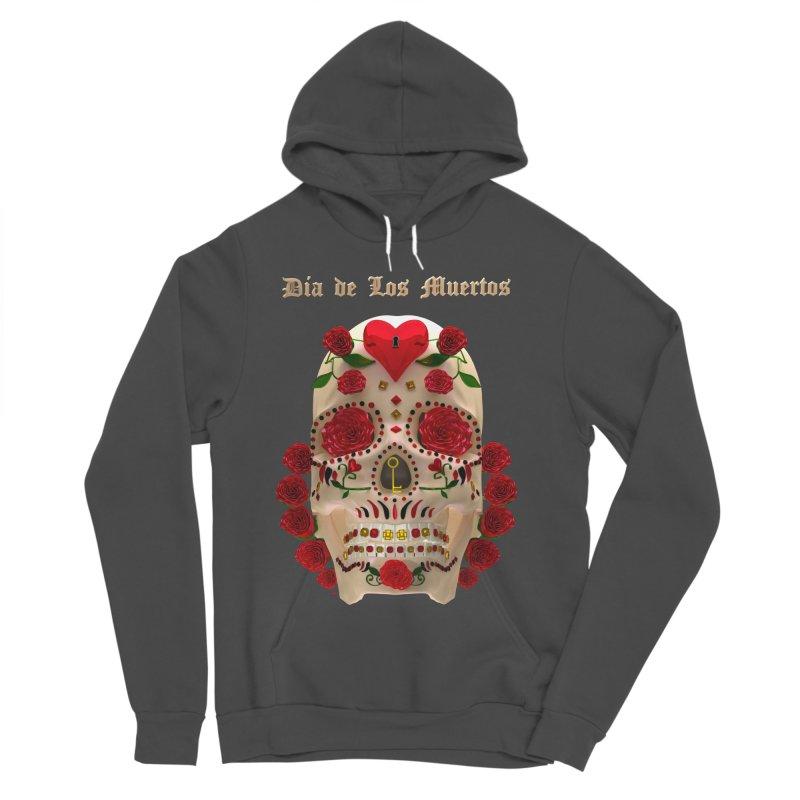 Dia De Los Muertos Key To Your Heart Women's Sponge Fleece Pullover Hoody by Armando Padilla Artist Shop