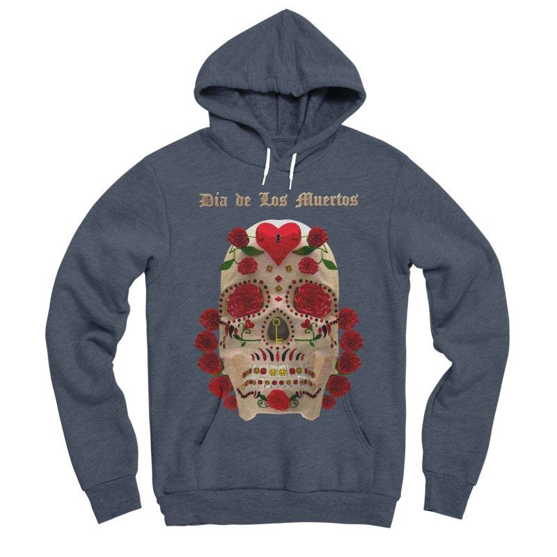 Dia De Los Muertos Key To Your Heart Men's Sponge Fleece Pullover Hoody by Armando Padilla Artist Shop
