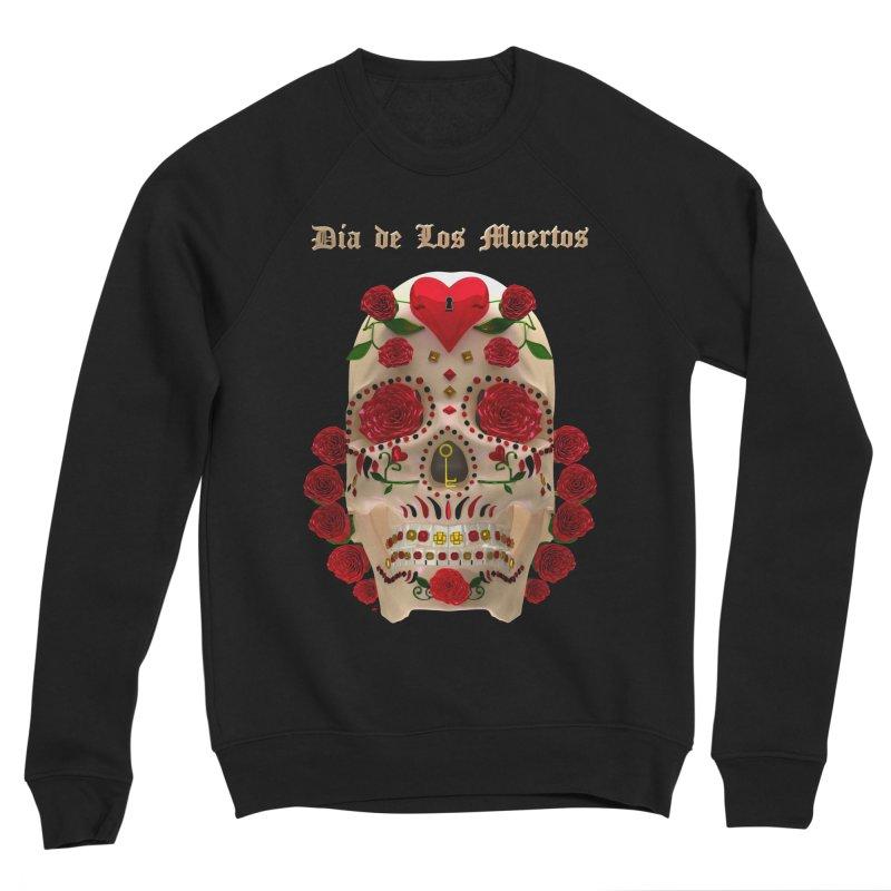 Dia De Los Muertos Key To Your Heart Men's Sponge Fleece Sweatshirt by Armando Padilla Artist Shop