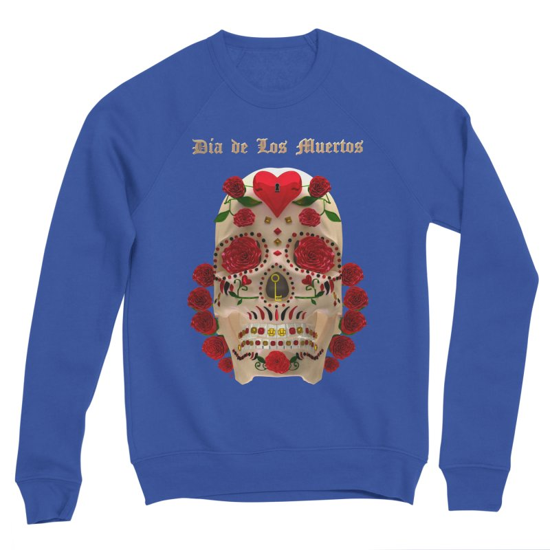 Dia De Los Muertos Key To Your Heart Women's Sponge Fleece Sweatshirt by Armando Padilla Artist Shop