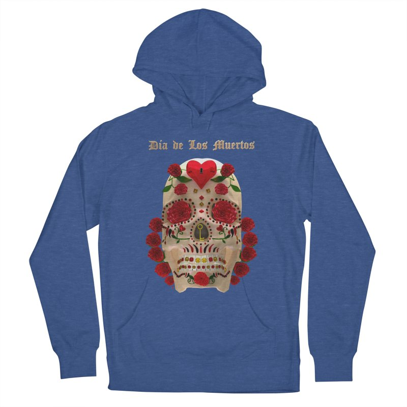 Dia De Los Muertos Key To Your Heart Women's French Terry Pullover Hoody by Armando Padilla Artist Shop