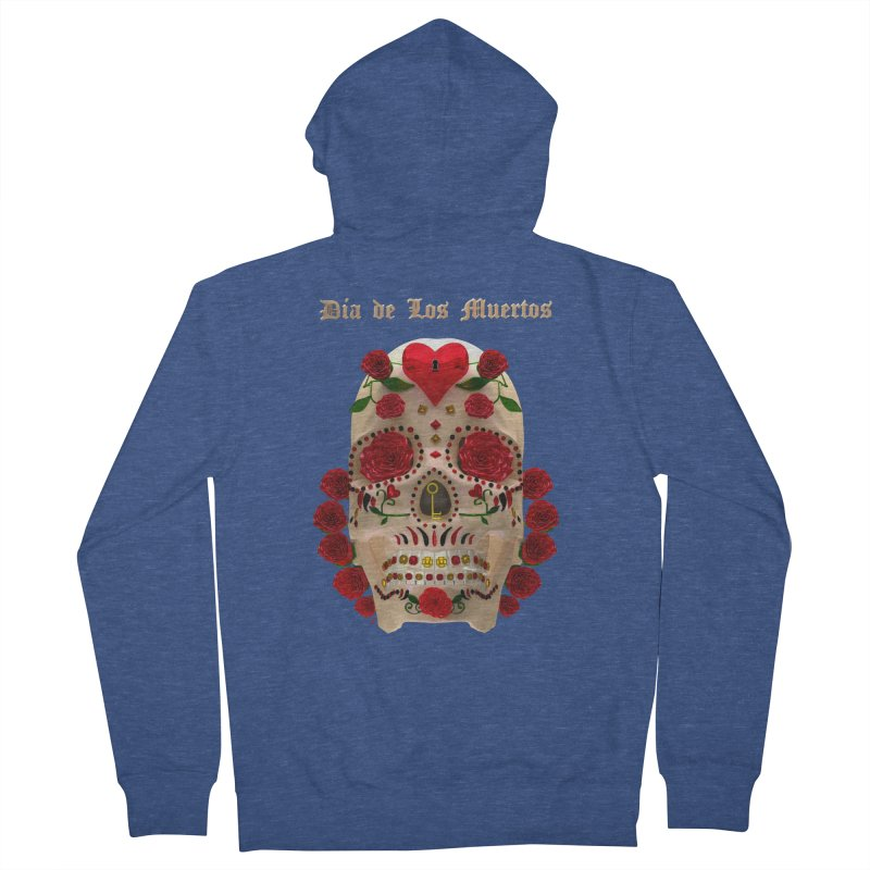Dia De Los Muertos Key To Your Heart Men's Zip-Up Hoody by Armando Padilla Artist Shop