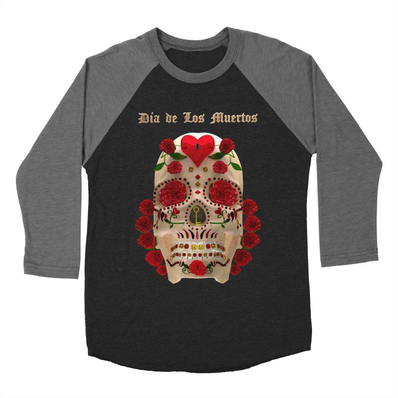 Dia De Los Muertos Key To Your Heart Women's Baseball Triblend Longsleeve T-Shirt by Armando Padilla Artist Shop