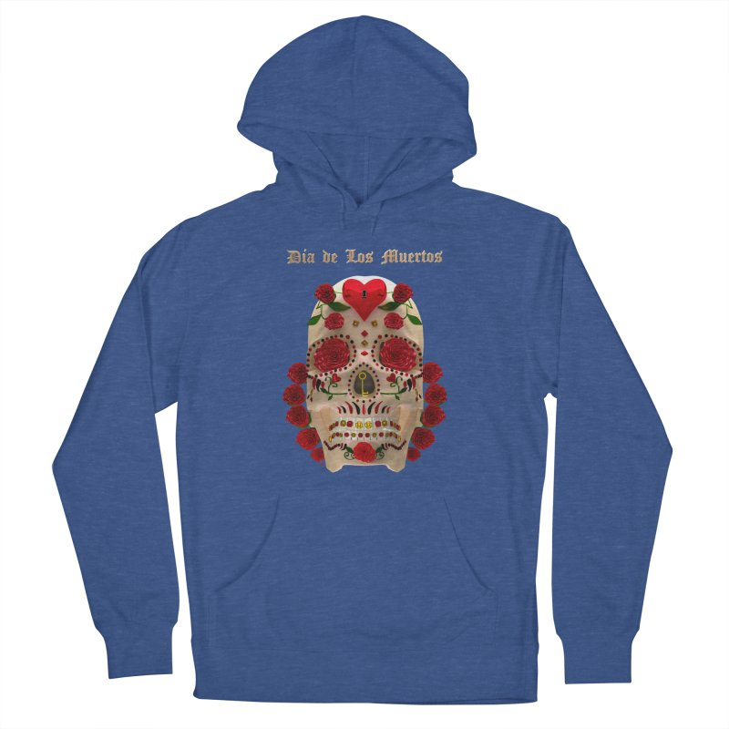 Dia De Los Muertos Key To Your Heart Men's Pullover Hoody by Armando Padilla Artist Shop