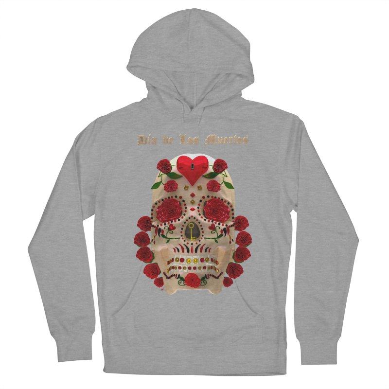 Dia De Los Muertos Key To Your Heart Men's French Terry Pullover Hoody by Armando Padilla Artist Shop