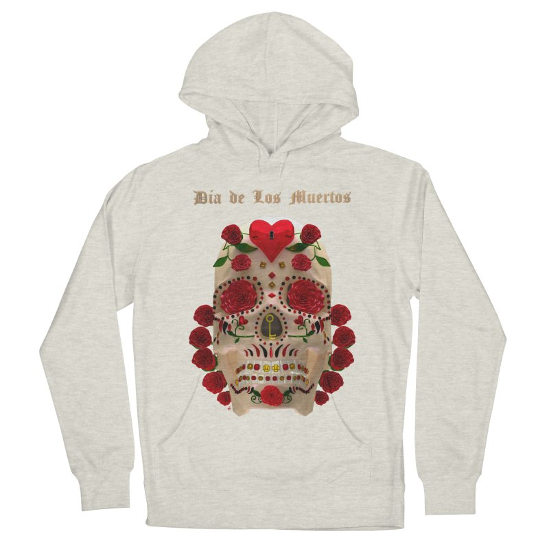 Dia De Los Muertos Key To Your Heart Men's French Terry Pullover Hoody by Armando Padilla Artist Shop