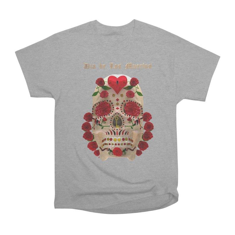 Dia De Los Muertos Key To Your Heart Women's Heavyweight Unisex T-Shirt by Armando Padilla Artist Shop