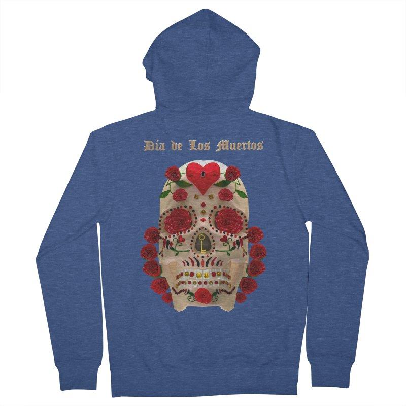Dia De Los Muertos Key To Your Heart Men's Zip-Up Hoody by Armando Padilla Artist Shop