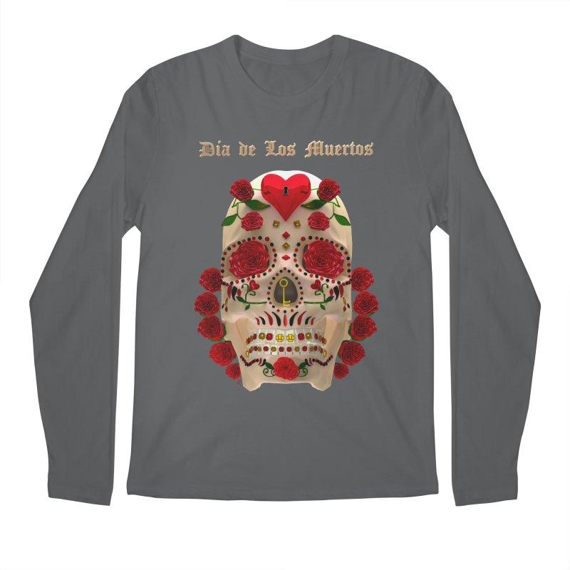 Dia De Los Muertos Key To Your Heart Men's Longsleeve T-Shirt by Armando Padilla Artist Shop