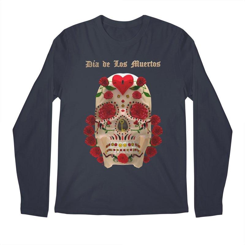 Dia De Los Muertos Key To Your Heart Men's Regular Longsleeve T-Shirt by Armando Padilla Artist Shop