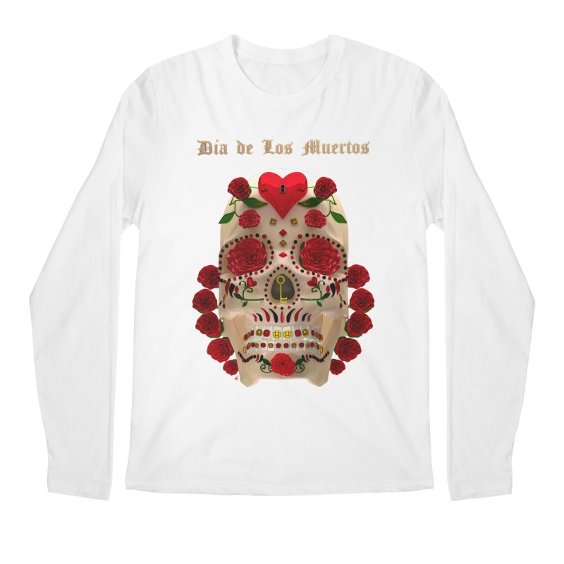 Dia De Los Muertos Key To Your Heart Men's Regular Longsleeve T-Shirt by Armando Padilla Artist Shop
