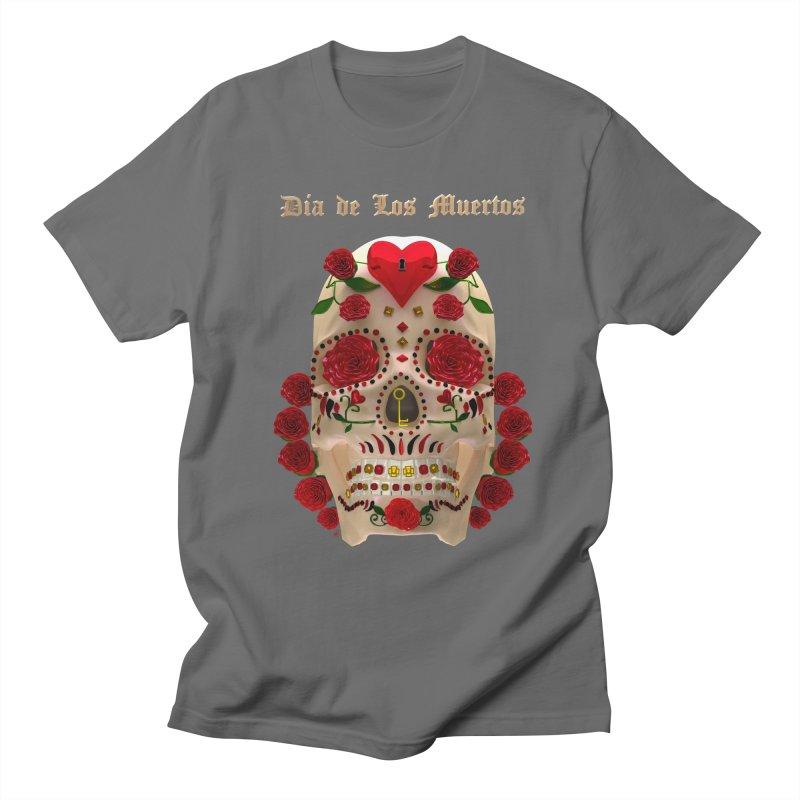 Dia De Los Muertos Key To Your Heart Men's Regular T-Shirt by Armando Padilla Artist Shop