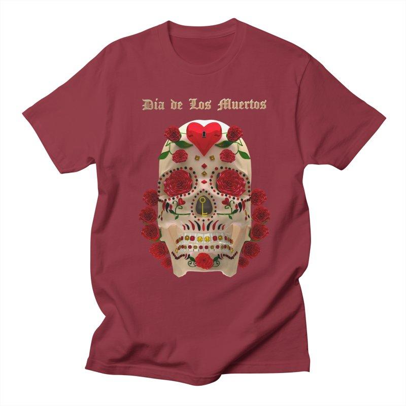 Dia De Los Muertos Key To Your Heart Women's Regular Unisex T-Shirt by Armando Padilla Artist Shop