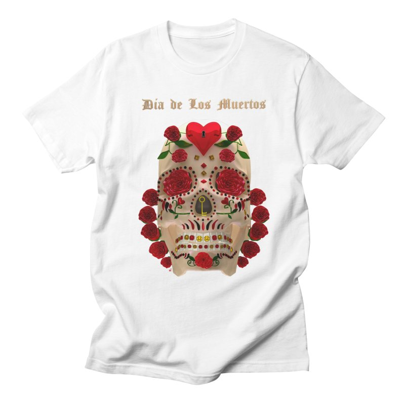 Dia De Los Muertos Key To Your Heart Women's Regular Unisex T-Shirt by Armando Padilla Artist Shop