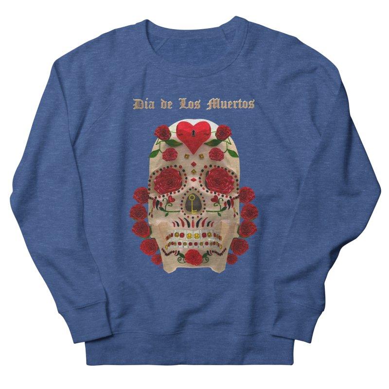 Dia De Los Muertos Key To Your Heart Women's French Terry Sweatshirt by Armando Padilla Artist Shop