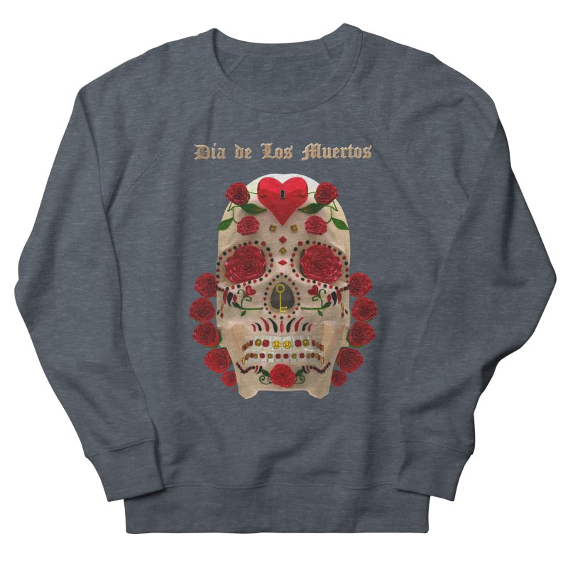 Dia De Los Muertos Key To Your Heart Men's French Terry Sweatshirt by Armando Padilla Artist Shop