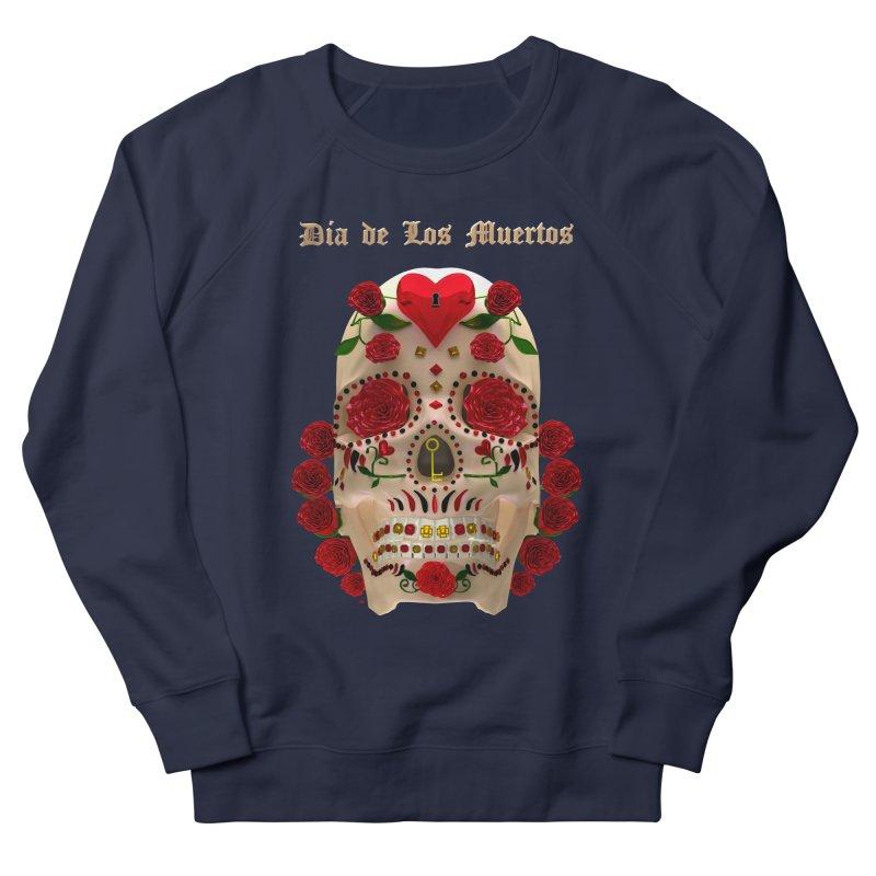 Dia De Los Muertos Key To Your Heart Men's French Terry Sweatshirt by Armando Padilla Artist Shop