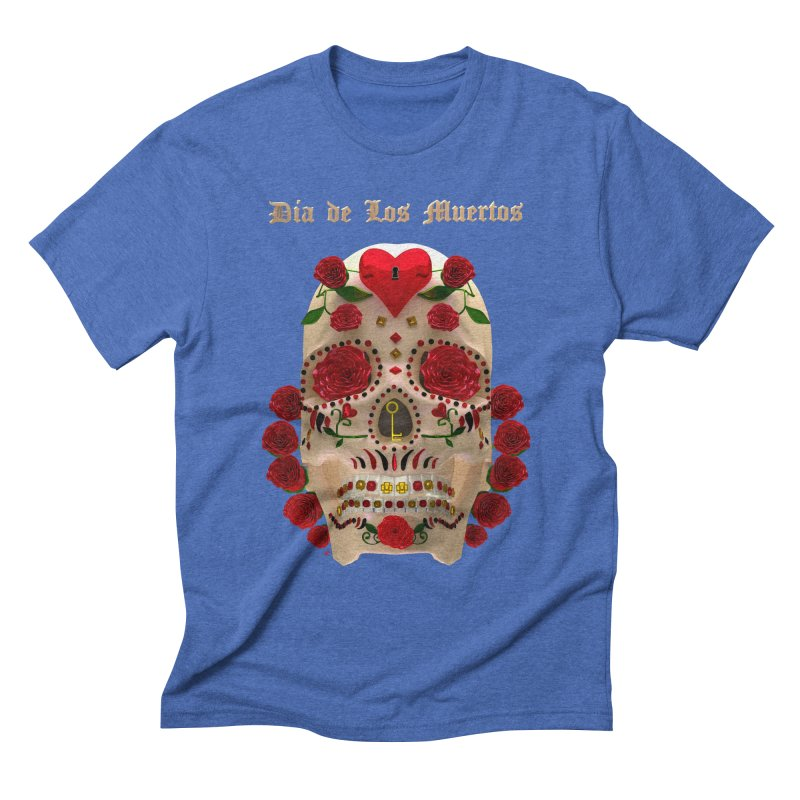 Dia De Los Muertos Key To Your Heart Men's T-Shirt by Armando Padilla Artist Shop