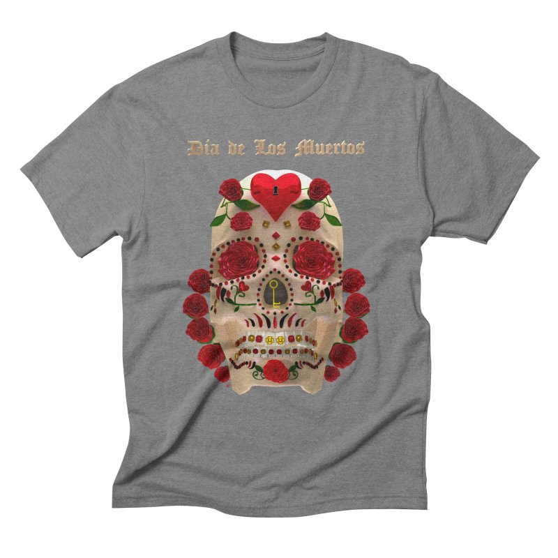 Dia De Los Muertos Key To Your Heart Men's Triblend T-Shirt by Armando Padilla Artist Shop
