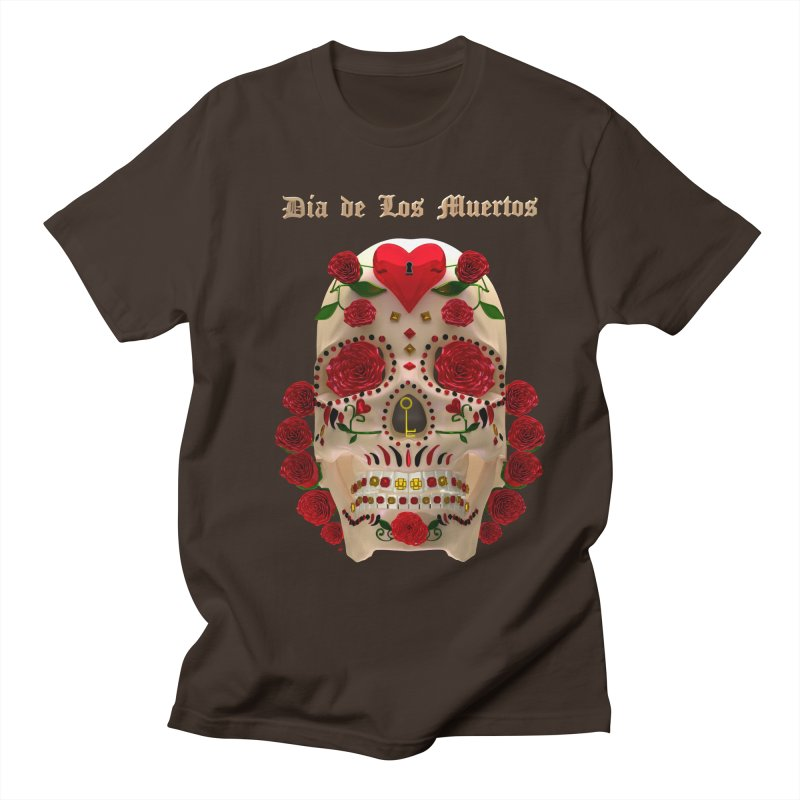 Dia De Los Muertos Key To Your Heart Men's Regular T-Shirt by Armando Padilla Artist Shop
