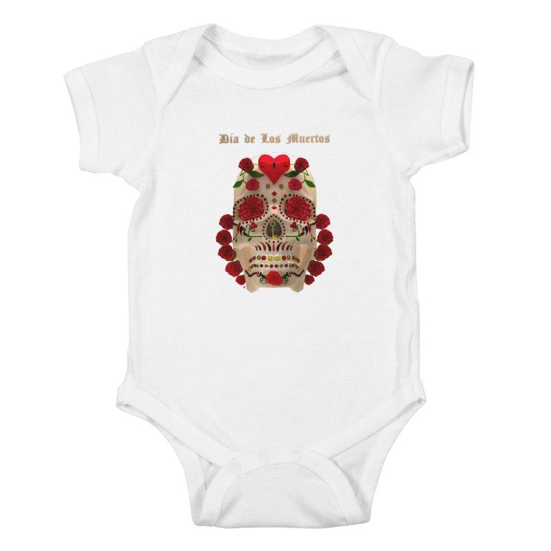 Dia De Los Muertos Key To Your Heart Kids Baby Bodysuit by Armando Padilla Artist Shop