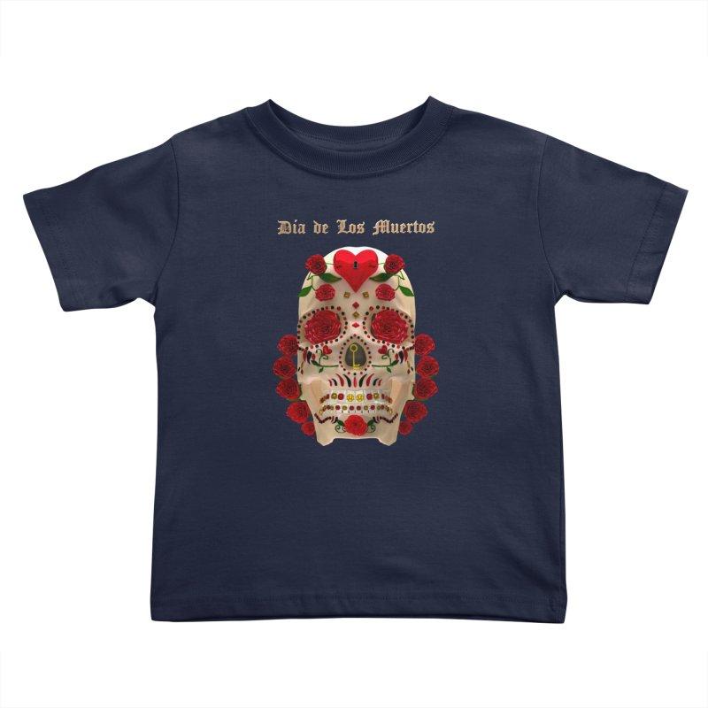 Dia De Los Muertos Key To Your Heart Kids Toddler T-Shirt by Armando Padilla Artist Shop