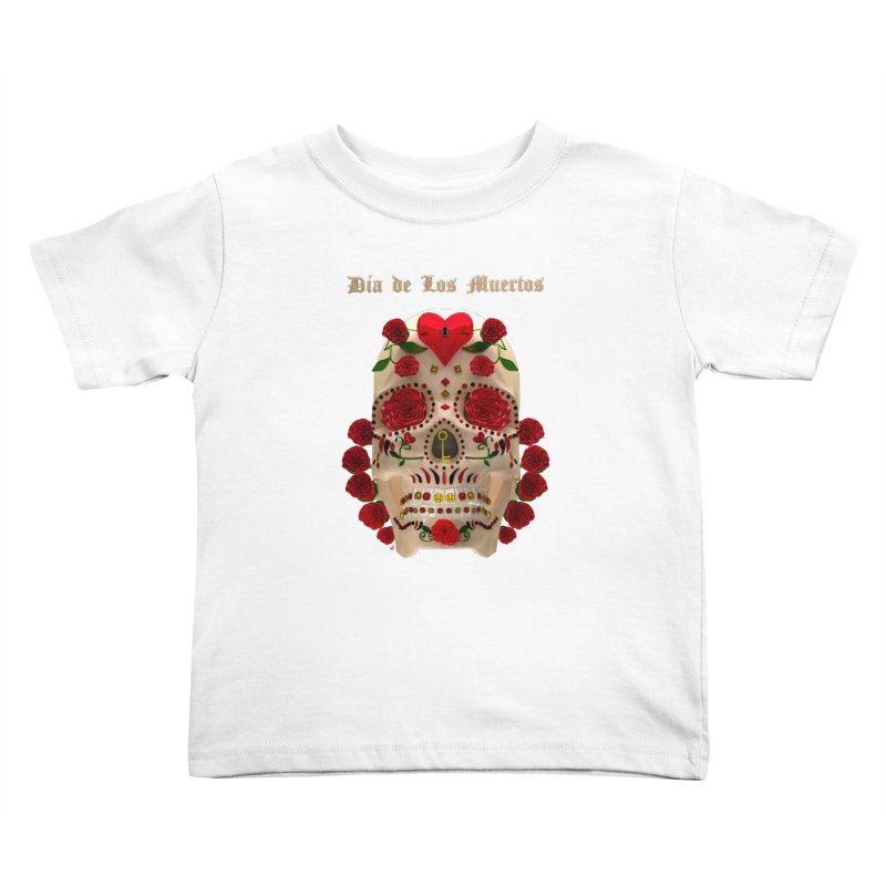 Dia De Los Muertos Key To Your Heart Kids Toddler T-Shirt by Armando Padilla Artist Shop