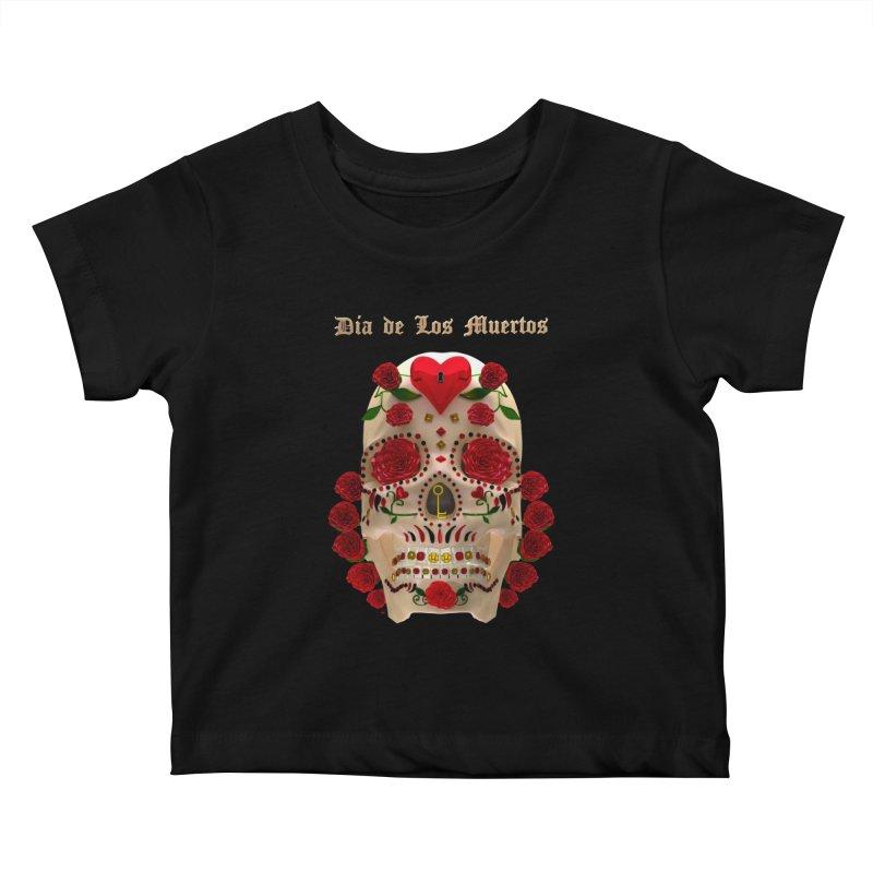 Dia De Los Muertos Key To Your Heart Kids Baby T-Shirt by Armando Padilla Artist Shop