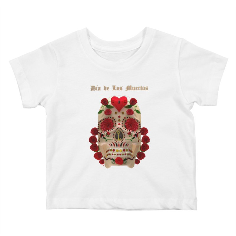 Dia De Los Muertos Key To Your Heart Kids Baby T-Shirt by Armando Padilla Artist Shop