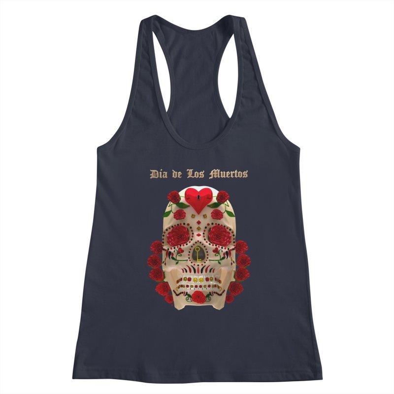 Dia De Los Muertos Key To Your Heart Women's Tank by Armando Padilla Artist Shop